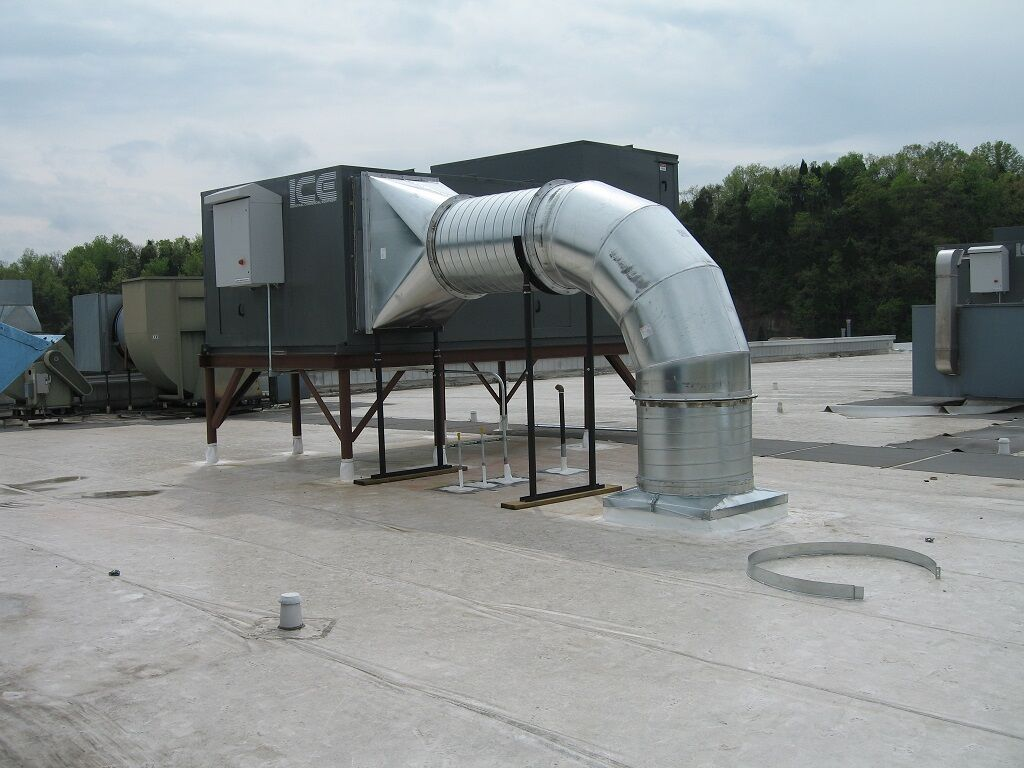 HVAC Smokestack Design, Roof Mau, Machine Design, Exhaust System Design, Prince Engineering, South Carolina